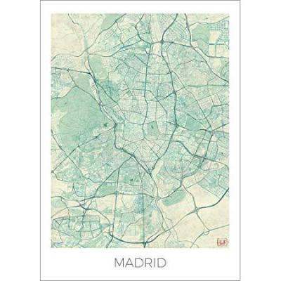 Póster 50 x 70 cm: Map of Madrid